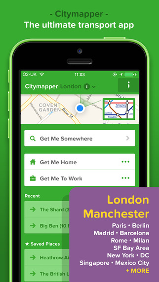 citymapper screen322x572